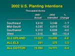 2002 u s planting intentions