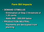farm bill impacts