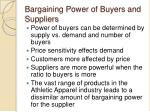 bargaining power of buyers and suppliers