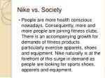 nike vs society