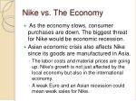 nike vs the economy