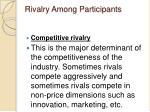 rivalry among participants