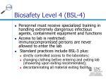 biosafety level 4 bsl 42