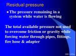residual pressure