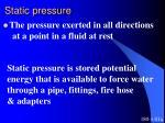 static pressure