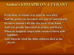auden s epitaph on a tyrant
