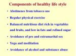 components of healthy life style