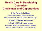 health care in developing countries challenges and opportunities