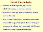 health care in india1