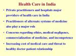 health care in india2