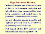 high burden of disease