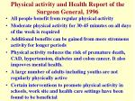 physical activity and health report of the surgeon general 1996