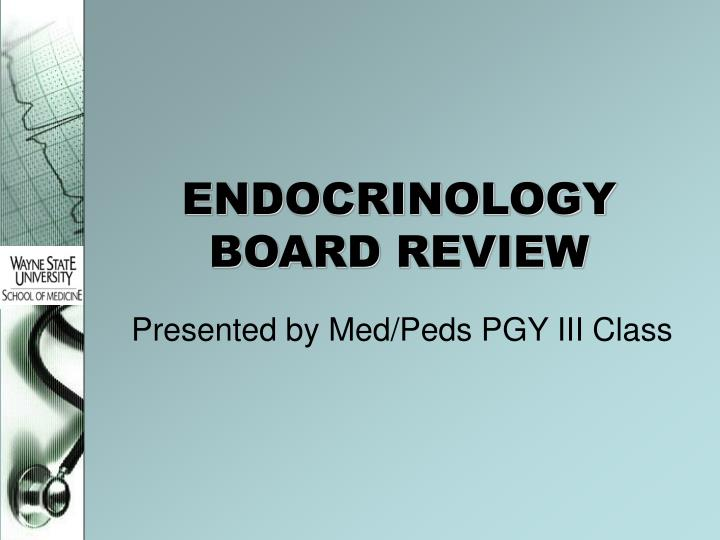 endocrinology board review n.