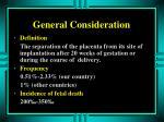 general consideration