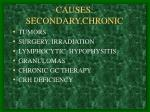 causes secondary chronic