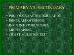 primary vs secondary
