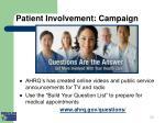 patient involvement campaign