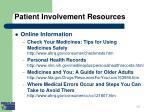 patient involvement resources ii