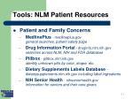 tools nlm patient resources i
