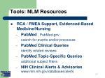 tools nlm resources i