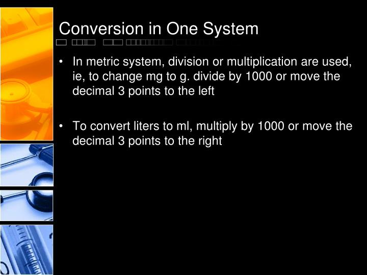 Conversion in One System