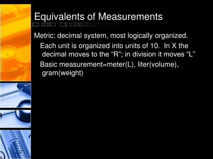 Equivalents of Measurements