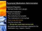 parenteral medication administration