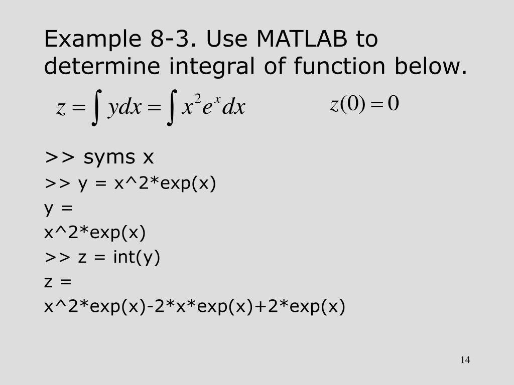 PPT - Chapter 8 Calculus Operations with MATLAB PowerPoint