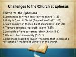 challenges to the church at ephesus2