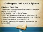 challenges to the church at ephesus3