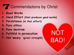 commendations by christ1