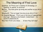 the meaning of first love