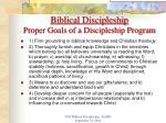 biblical discipleship proper goals of a discipleship program