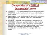 composition of a biblical discipleship lesson