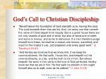god s call to christian discipleship