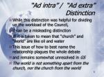 ad intra ad extra distinction