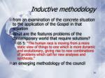 inductive methodology