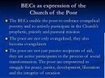 becs as expression of the church of the poor