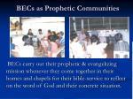 becs as prophetic communities1
