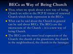 becs as way of being church