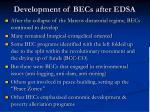 development of becs after edsa