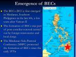 emergence of becs