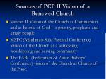 sources of pcp ii vision of a renewed church