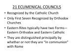 21 ecumenical councils