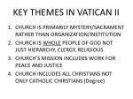 key themes in vatican ii
