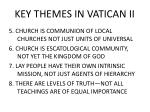 key themes in vatican ii1