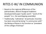 rites e w in communion