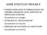 some effects of vatican ii
