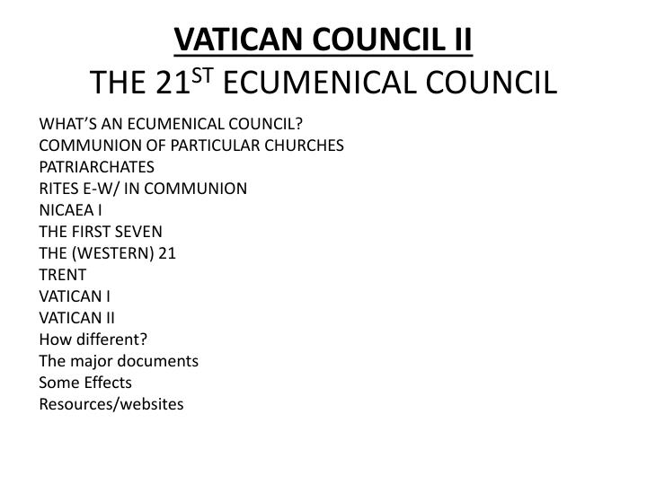 vatican council ii the 21 st ecumenical council n.
