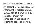 what s an ecumenical council